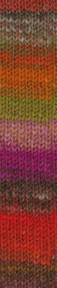 Noro Kureyon Air - 392 Mary Ellen Jasper (reds,orange,lime,grey) - Click Image to Close