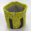 Spinderella - Project Bag with Handles, Yellow Print with Snoopy