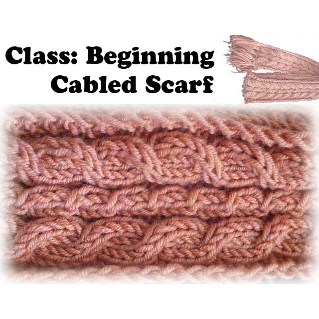 Beginning Cabled Scarf