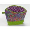 Spinderella - Zippered Project Bag, Flowers print with green
