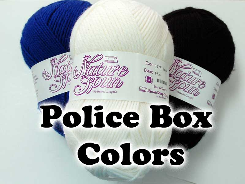 Police Box colors - Worsted Wool