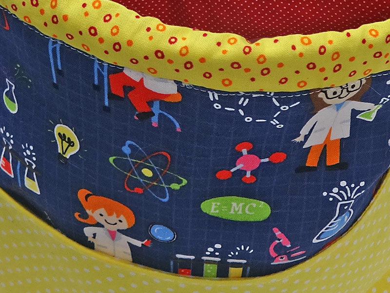 Spinderella - Drawstring Project Bag w/ pocket, Girl Science! - Click Image to Close