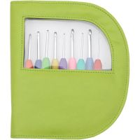 Knitters Pride - Waves Cro SET C-J w/Green Case