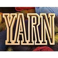 "Handcrafted Wooden Sign - ""YARN"" (Collegiate) - Poplar"