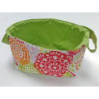 Spinderella - Project Bag w/ Side Handles, Large Flower Print